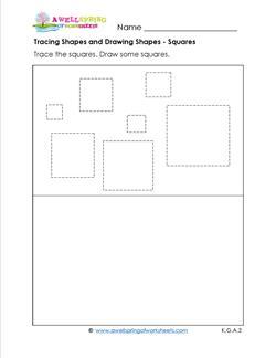 tracing shapes and drawing shapes - squares