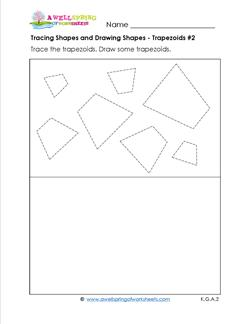 tracing shapes and drawing shapes - trapezoids 2