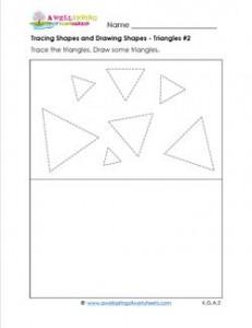 tracing shapes and drawing shapes #2
