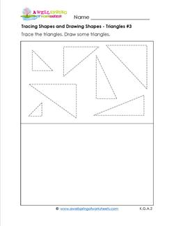 tracing shapes and drawing shapes - triangles 3