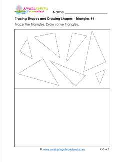 tracing shapes and drawing shapes 4