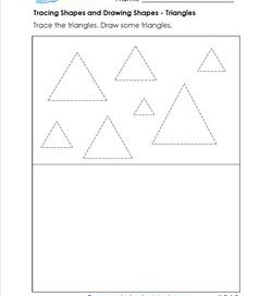 tracing shapes and drawing shapes - triangles