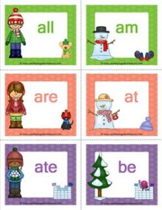 winter dolch sight word flashcards premium
