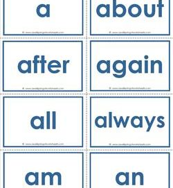 dolch sight word flash cards - complete set - pre-primer through third grade - sight words flashcards