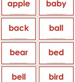 dolch sight word flash cards - nouns - sight words flaashcards