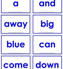 dolch sight word flash cards - pre-primer sight words flashcards