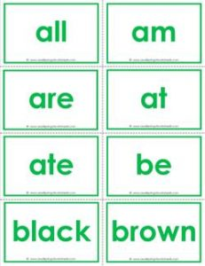 dolch sight word flash cards - primer - kindergarten sight words flashcards