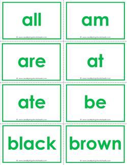 dolch sight word flash cards - primer - kindergarten sight words flashcards