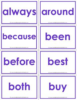 Dolch sight word flash cards - second grade - color - Second Grade sight words flashcards