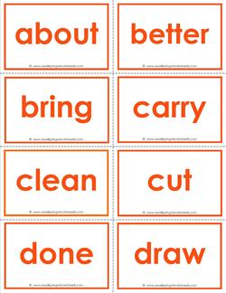 dolch sight word flash cards - third grade sight words flashcards