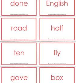 fry word flash cards - the fifth 100 - high frequency words flashcards