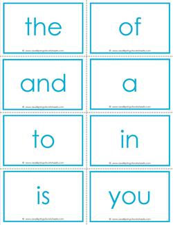 fry word flash cards - the first 100 - high frequency words flashcards