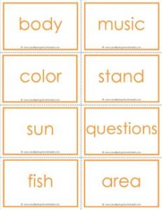 fry word flash cards - the fourth 100 - high frequency words flashcards