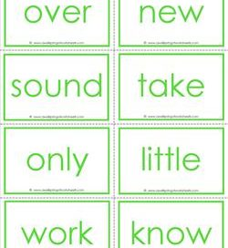 fry word flash cards - the second 100 - high frequency words flashcards