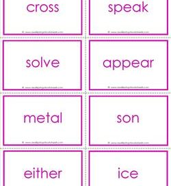 fry word flash cards - the seventh 100 - high frequency words flashcards