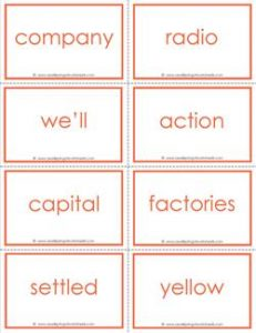 fry word flash cards - the tenth 100 - high frequency words flashcards