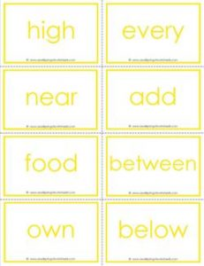 fry word flash cards - the third 100 - high frequency words flashcards