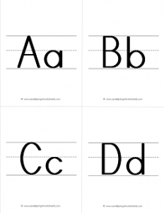 ABC Flashcards - Uppercase and Lowercase Letter Flashcards