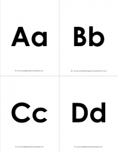 photo regarding Printable Alphabet Flash Cards identified as Printable Alphabet Flashcards - Uppercase and Lowercase Letters