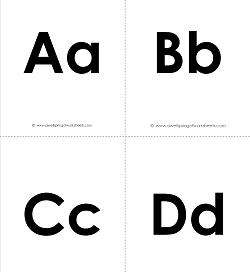 Printable Alphabet Flashcards - Uppercase and Lowercase Letters Flashcards