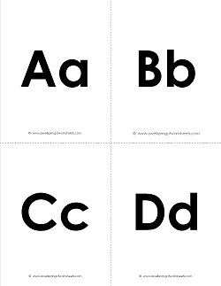 picture about Alphabet Flash Cards Printable Black and White identified as Printable Alphabet Flashcards - Uppercase and Lowercase Letters