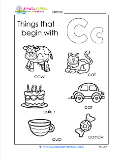 Things That Begin With C - Alphabet Printables