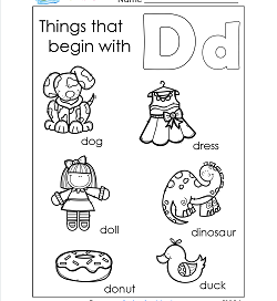 Things That Begin With D - Alphabet Printables