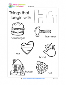 Things That Begin With H - Alphabet Printables