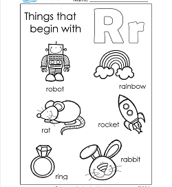 Things That Begin With R - Alphabet Printables