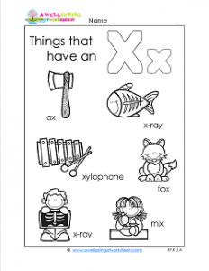 Things That Begin With X - Alphabet Printables