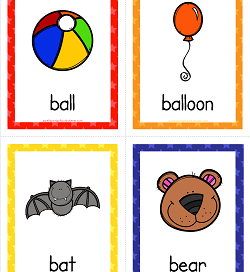 Things that Start with B Cards - Alphabet Printables