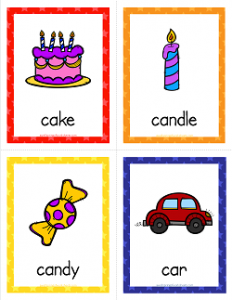Things that Start with C Cards - Alphabet Printables