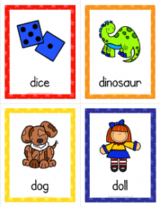 Things that Start with D Cards - Alphabet Printables
