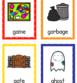 Things that Start with G Cards - Alphabet Printables