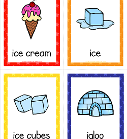 Things that Start with I Cards - Alphabet Printables