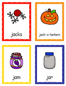Things that Start with J Cards - Alphabet Printables