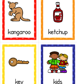 Things that Start with K Cards - Alphabet Printables