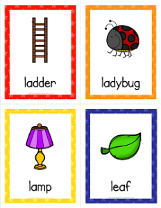 Things that Start with L Cards - Alphabet Printables