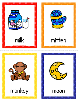 Things that Start with M Cards - Alphabet Printables