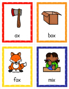 Things that Start with X Cards - Alphabet Printables