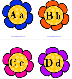 Matching Letters - Flowers | Alphabet Matching