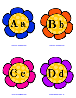 Matching Letters - Flowers   Alphabet Matching