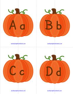 Matching Letters - Pumpkins   Alphabet Matching