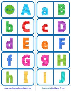 Alphabet Dominoes - Alphabetical Order - Alphabet Games