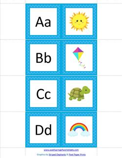 Alphabet Dominoes - Beginning Sounds - Alphabet Games