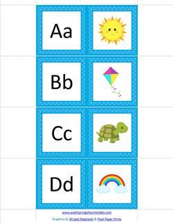 Alphabet Dominoes - Beginning Sounds - Alphabet Games