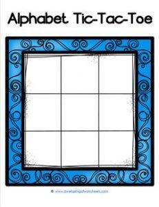 Alphabet Tic-Tac-Toe - Blue - Alphabet Games