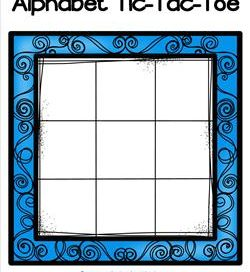 Alphabet Tic-Tac-Toe - Blue - Alphabet Games