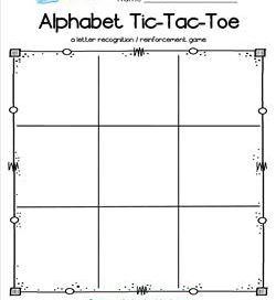 Alphabet Tic-Tac-Toe Worksheet - Alphabet Games