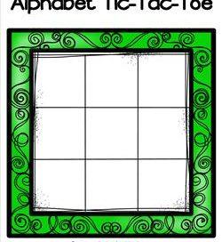 Alphabet Tic-Tac-Toe - Green - Alphabet Games